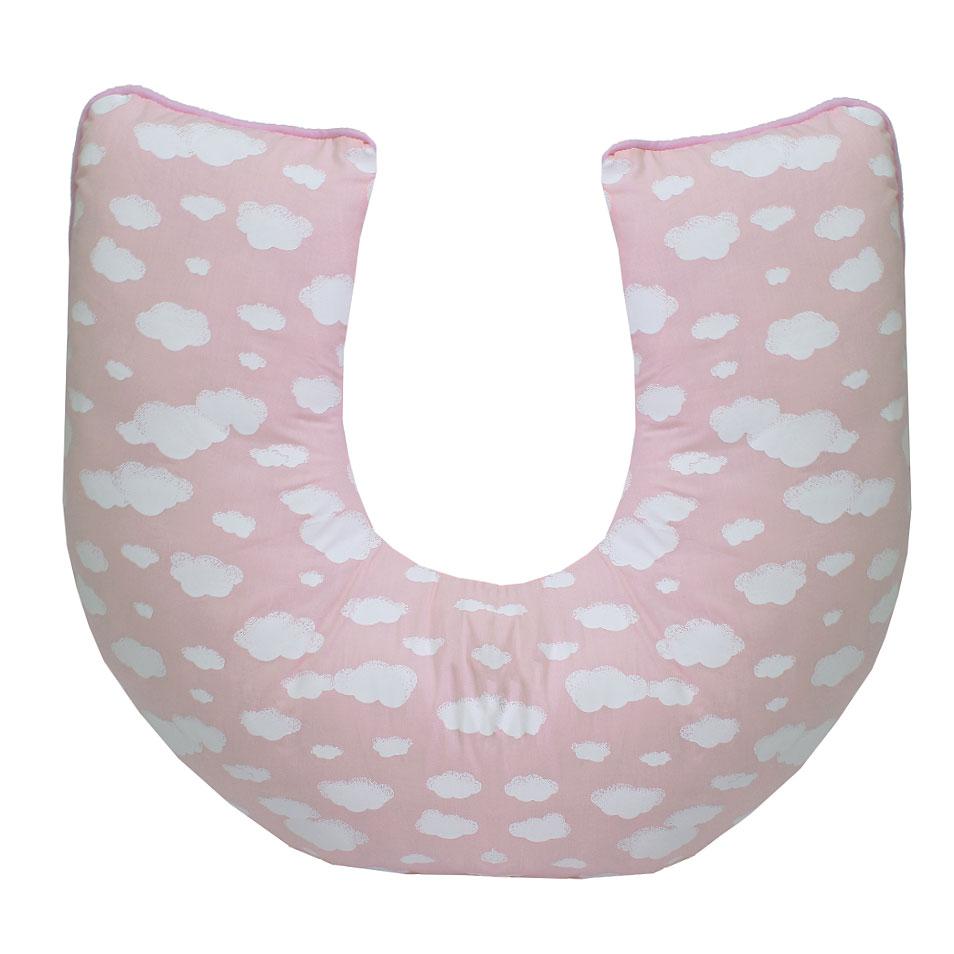 Apoio para Amamentar Algodão Doce Rosa  - Toca do Bebê