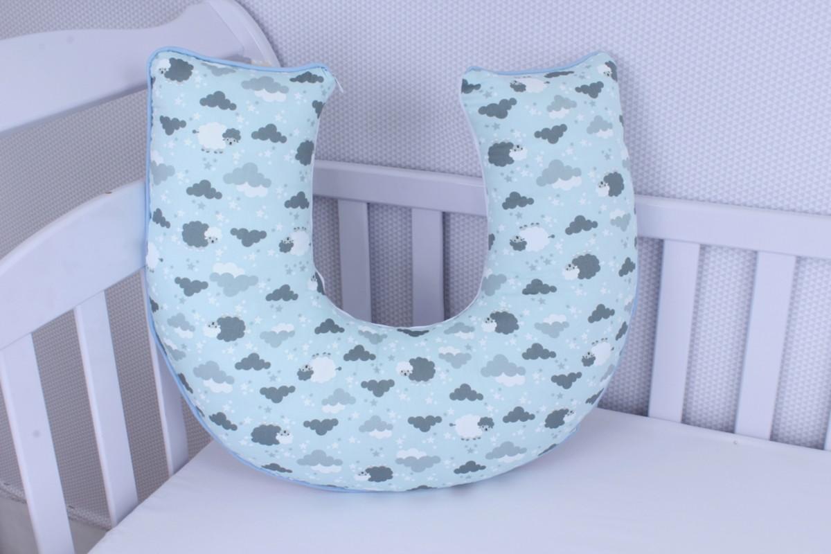 Almofada Amamentação Ovelha Azul  - Toca do Bebê