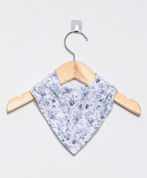 Bandana Floral Azul