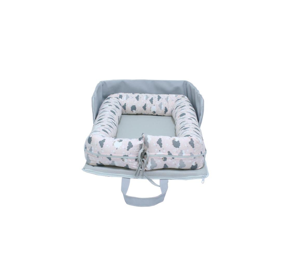 Bolsa Ninho Portátil Ovelha Rosa  - Toca do Bebê