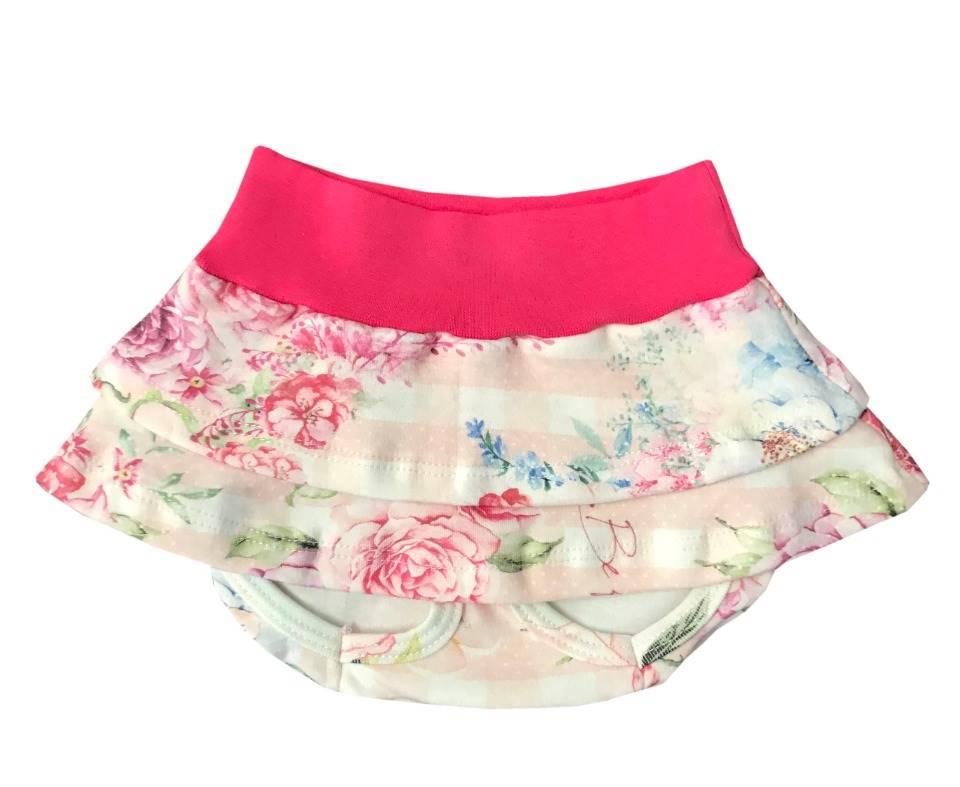 Calcinha Tapa Fralda Floral Pink