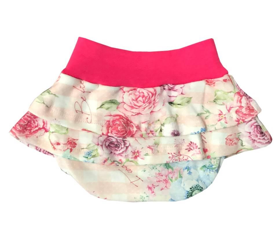 Calcinha Tapa Fralda Floral Pink  - Toca do Bebê