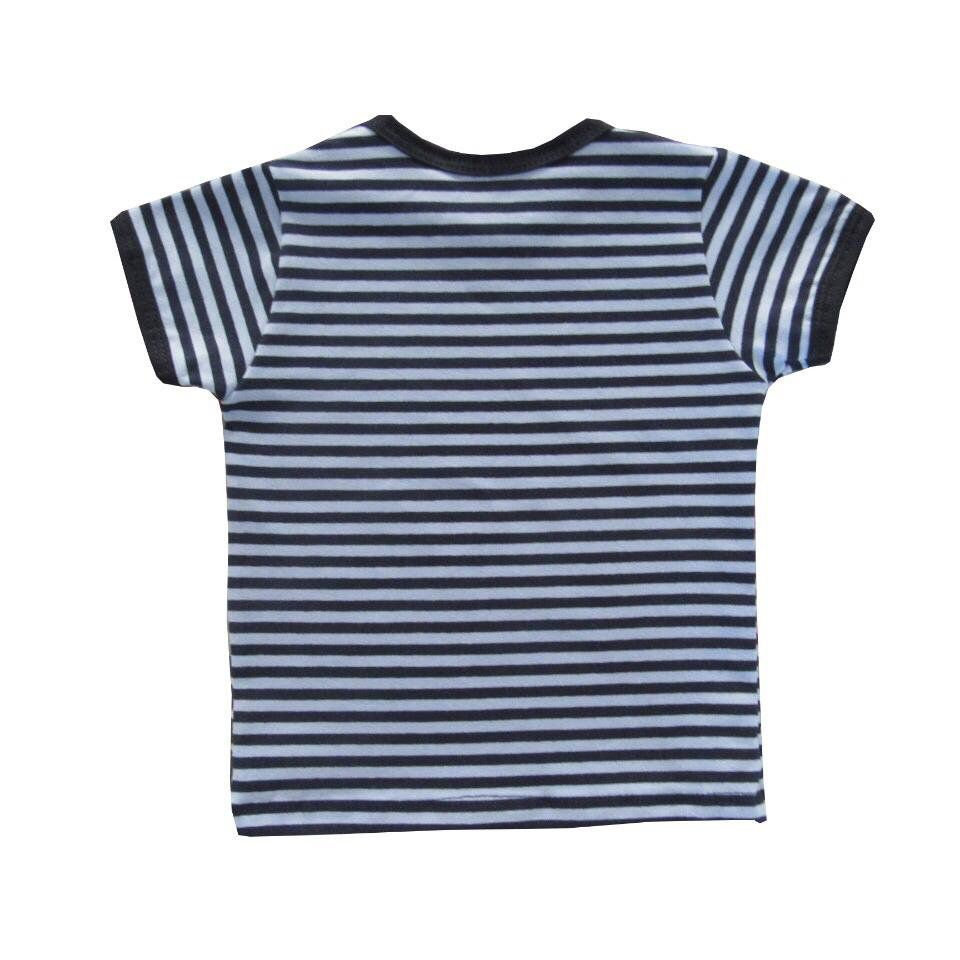 Camiseta Manga Curta Listrada   - Toca do Bebê