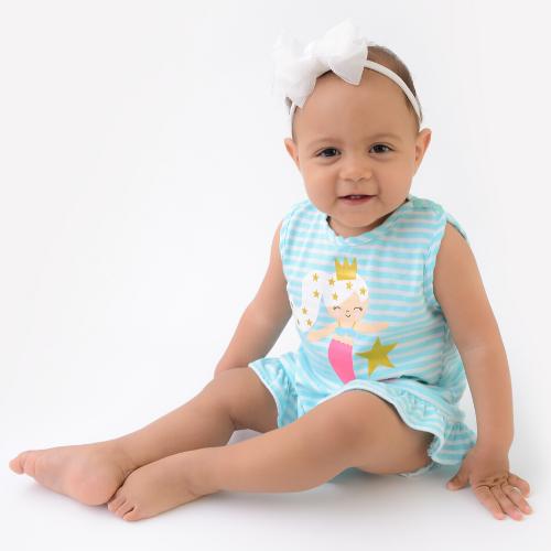 Camisola Sereia Alana  - Toca do Bebê