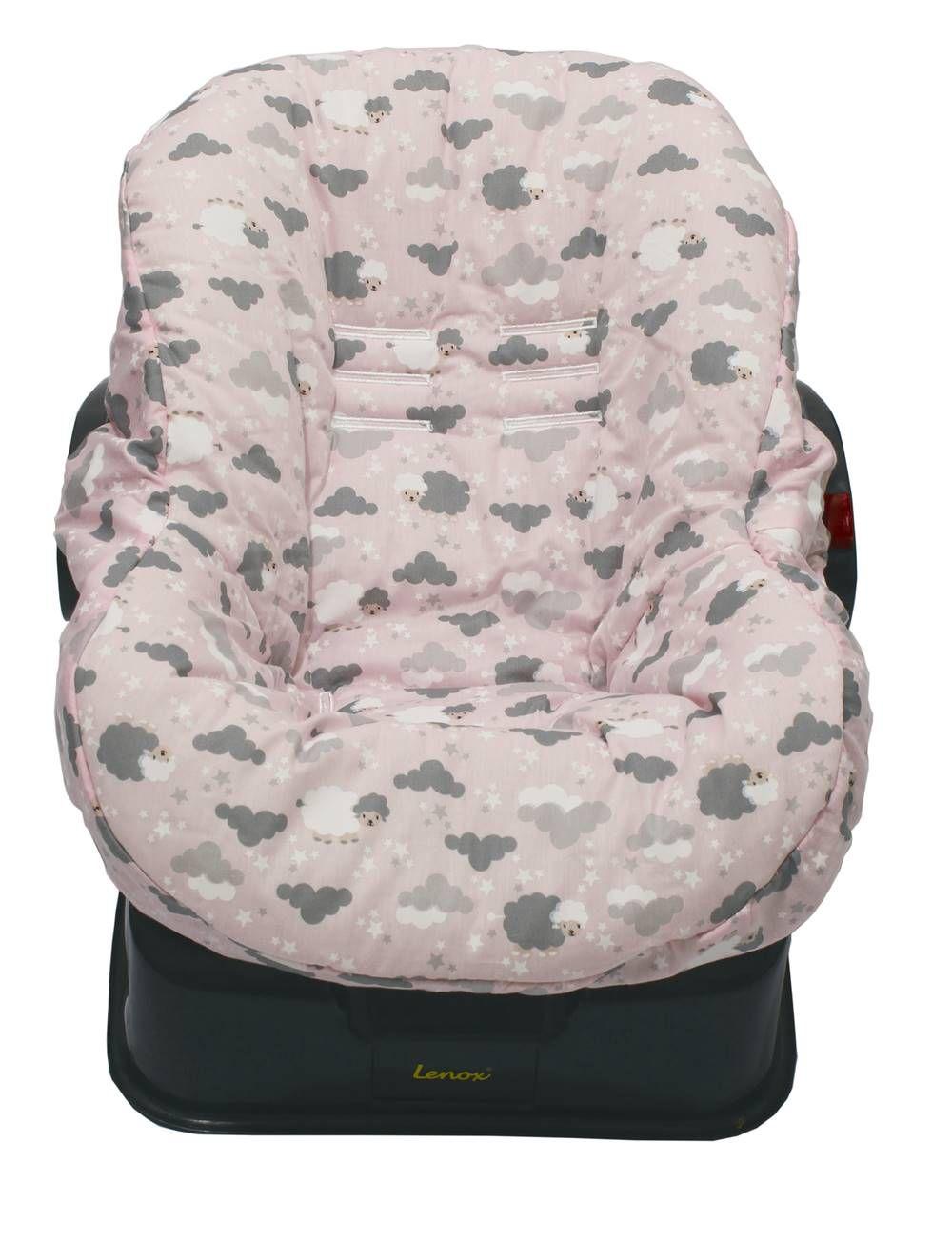 Capa de Bebê Conforto Dupla Face Ovelha Rosa