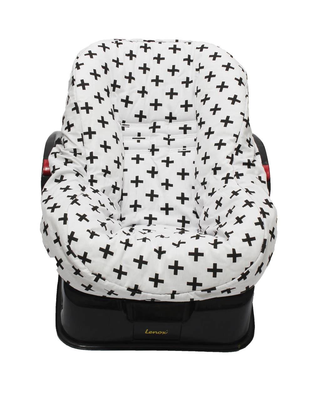 Capa de Bebê Conforto Dupla Face Positivo Preto