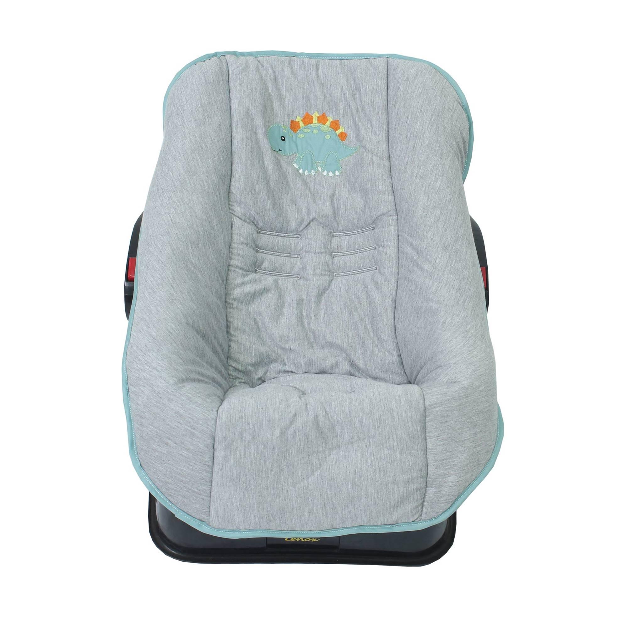Capa de Bebê Conforto em Malha Dino Trice  - Toca do Bebê