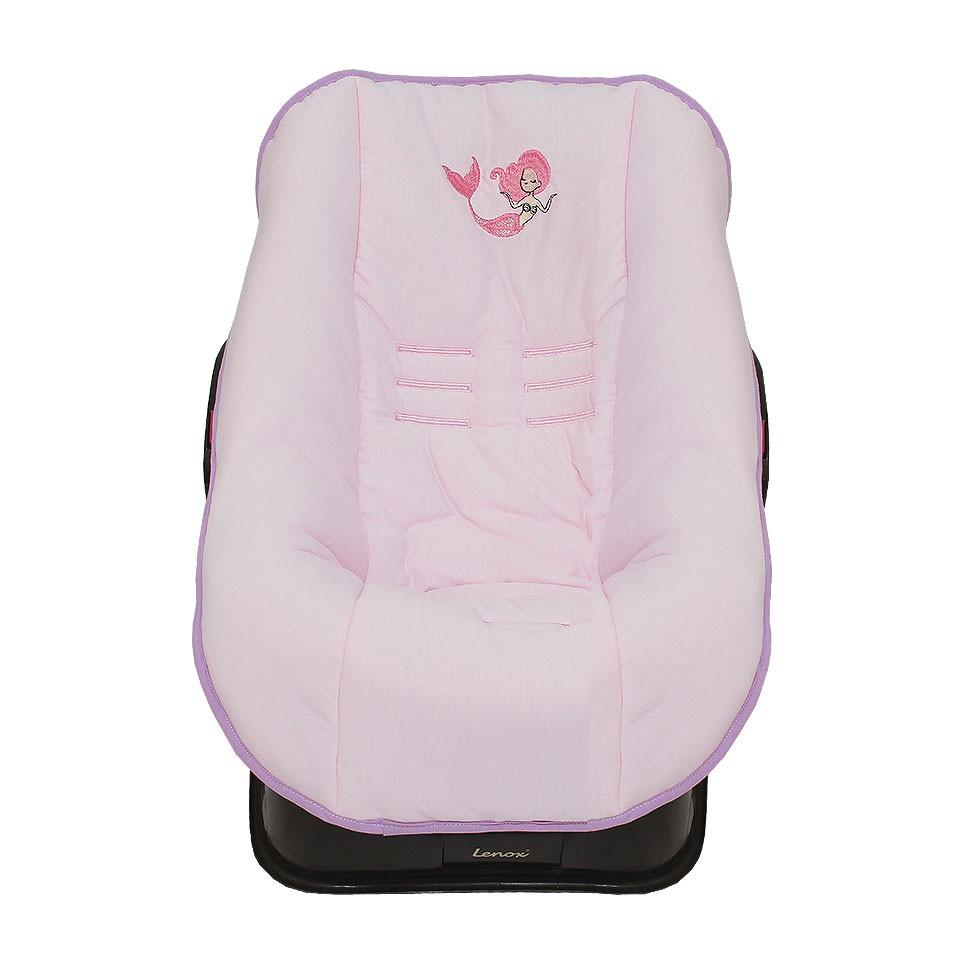 Capa de Bebê Conforto em Malha Sereia Alana