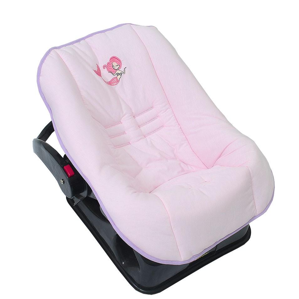 Capa de Bebê Conforto em Malha Sereia Alana  - Toca do Bebê