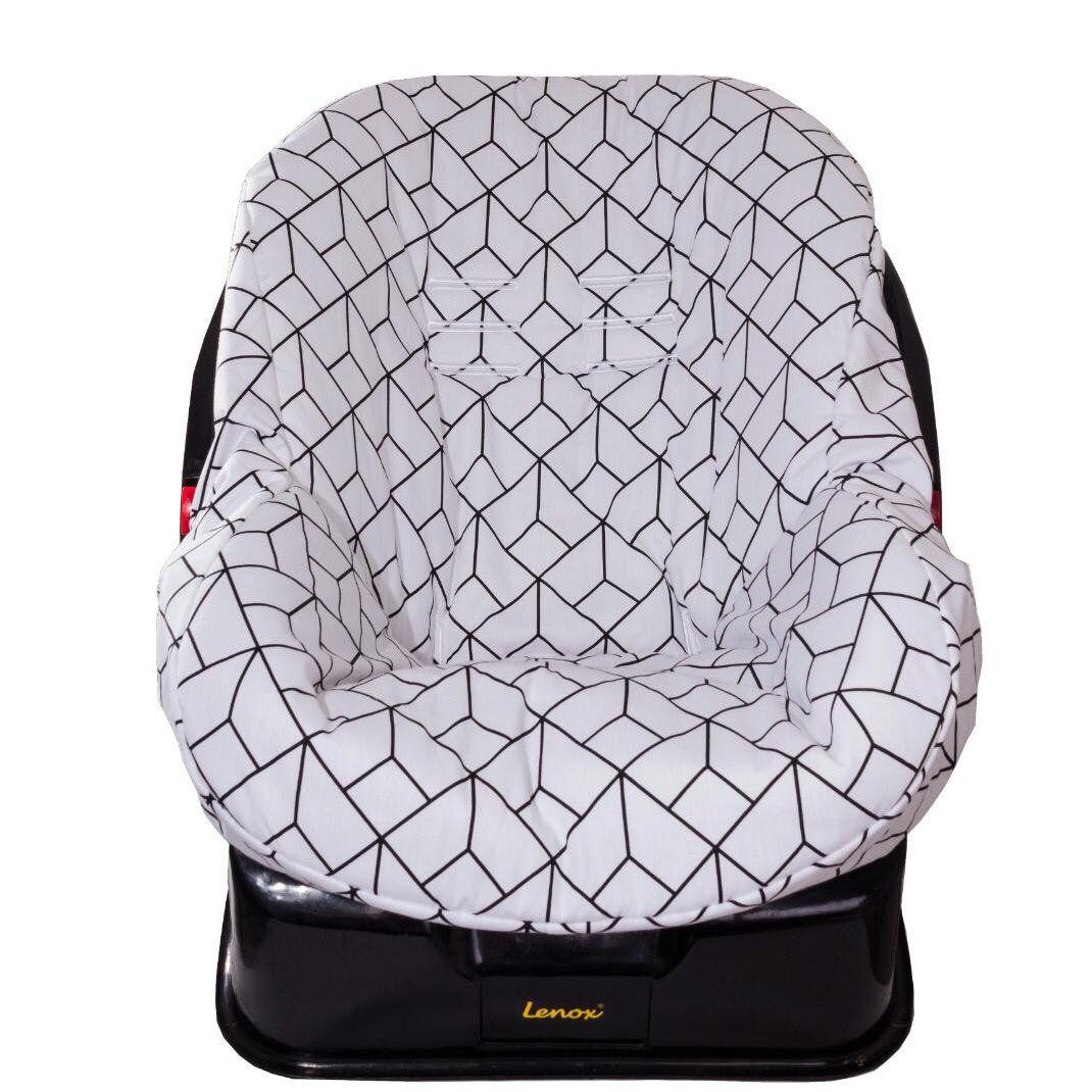 Capa de Bebê Dupla Face Conforto Losango Preto