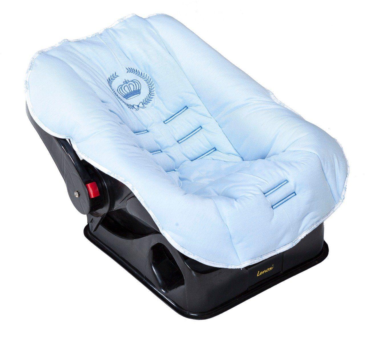 Capa de Bebê Conforto Majestade Azul  - Toca do Bebê