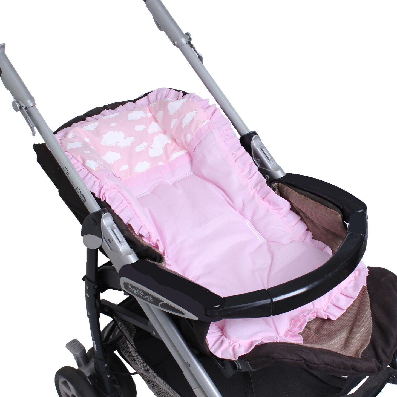 Capa de Carrinho com Almofadinha Algodão Doce Rosa  - Toca do Bebê
