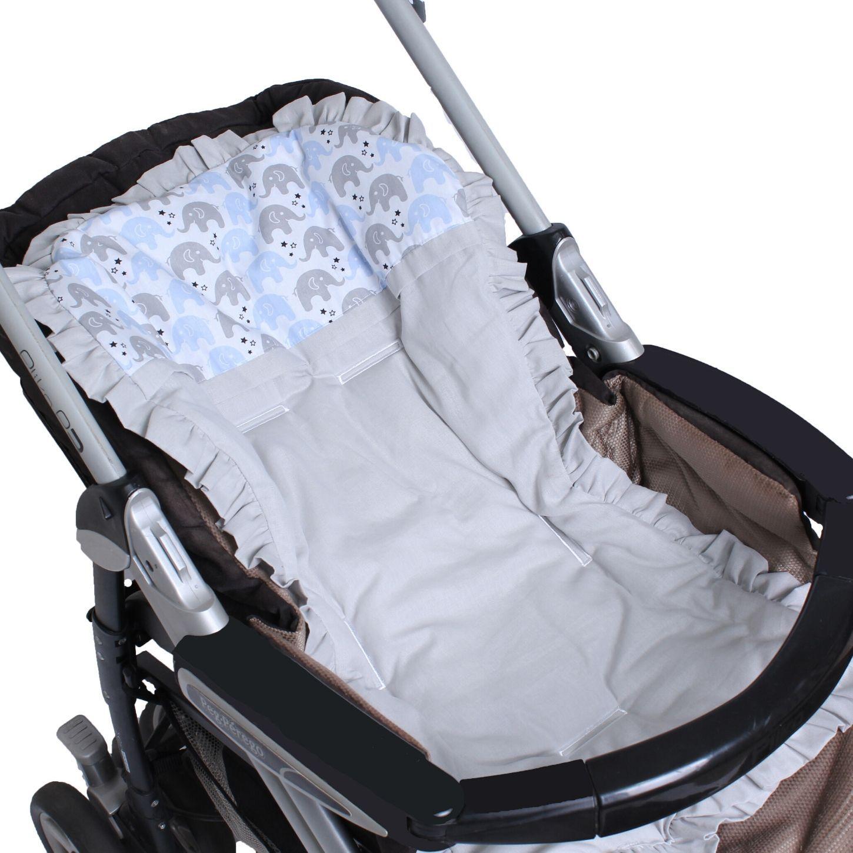 Capa de Carrinho com Almofadinha Elefantinho Azul  - Toca do Bebê