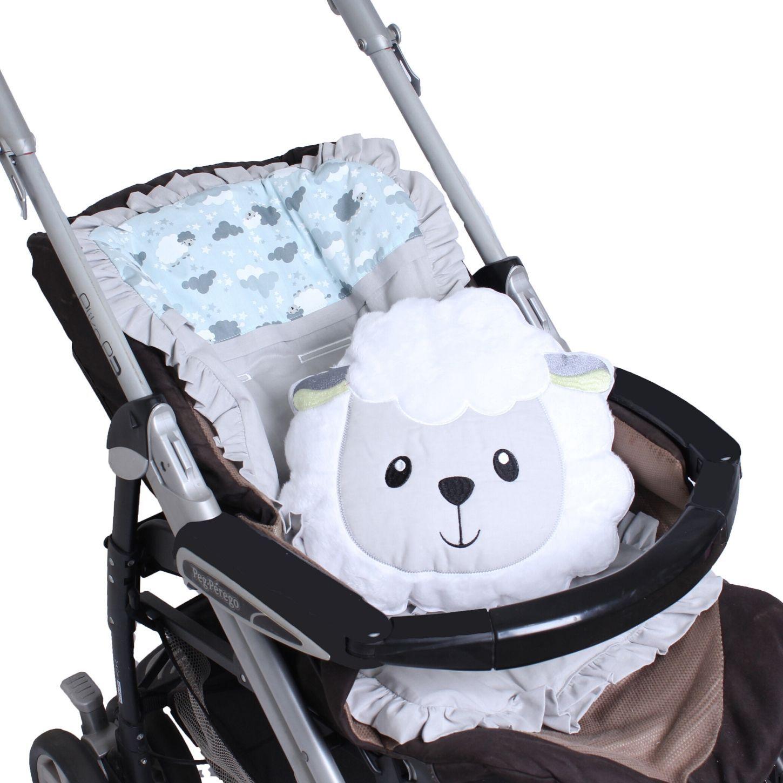 Capa de Carrinho com Almofadinha Ovelha Azul  - Toca do Bebê