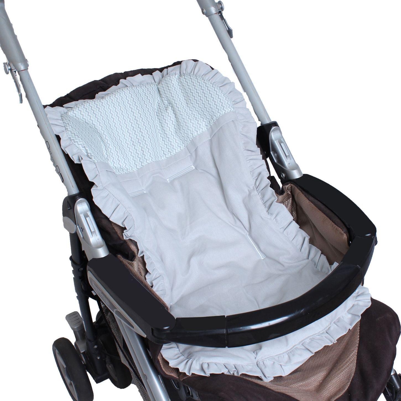Capa de Carrinho com Almofadinha Zig Zag Menta  - Toca do Bebê
