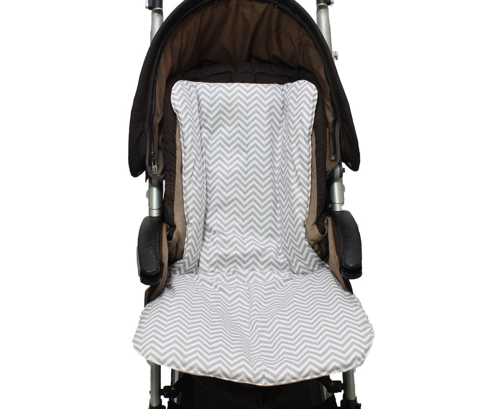 Capa de Carrinho Dupla Face Chevron Cinza  - Toca do Bebê