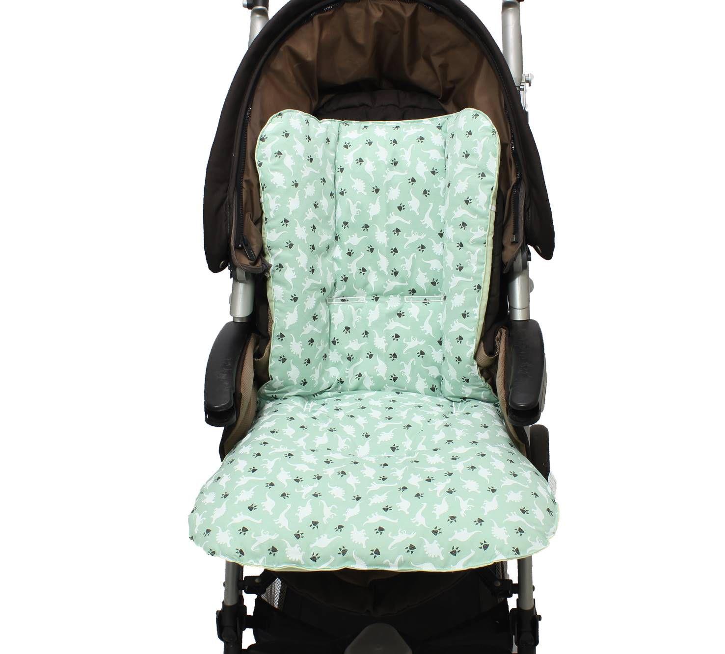 Capa de Carrinho Dupla Face Dino Verde  - Toca do Bebê