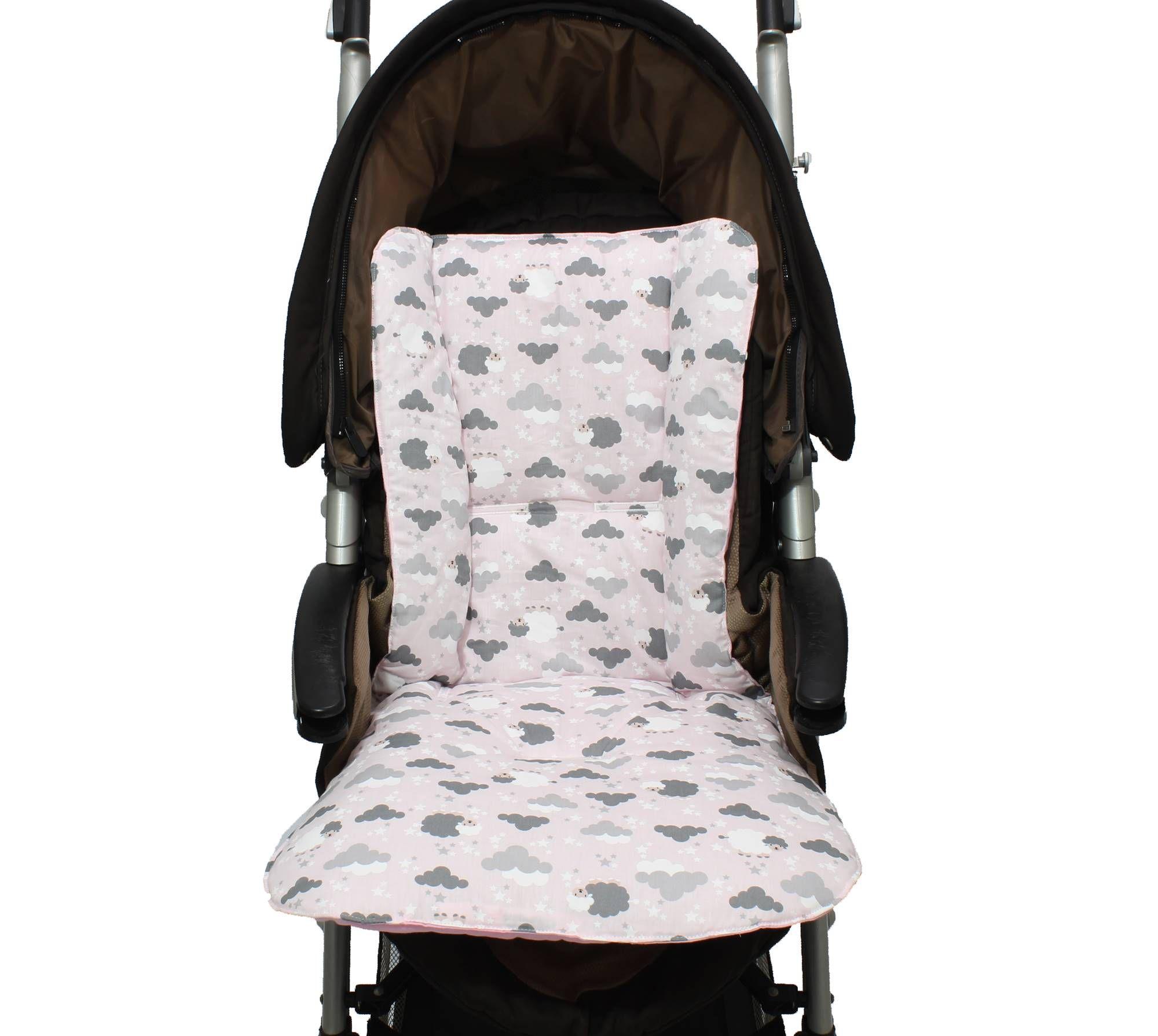 Capa de Carrinho Dupla Face Ovelha Rosa  - Toca do Bebê