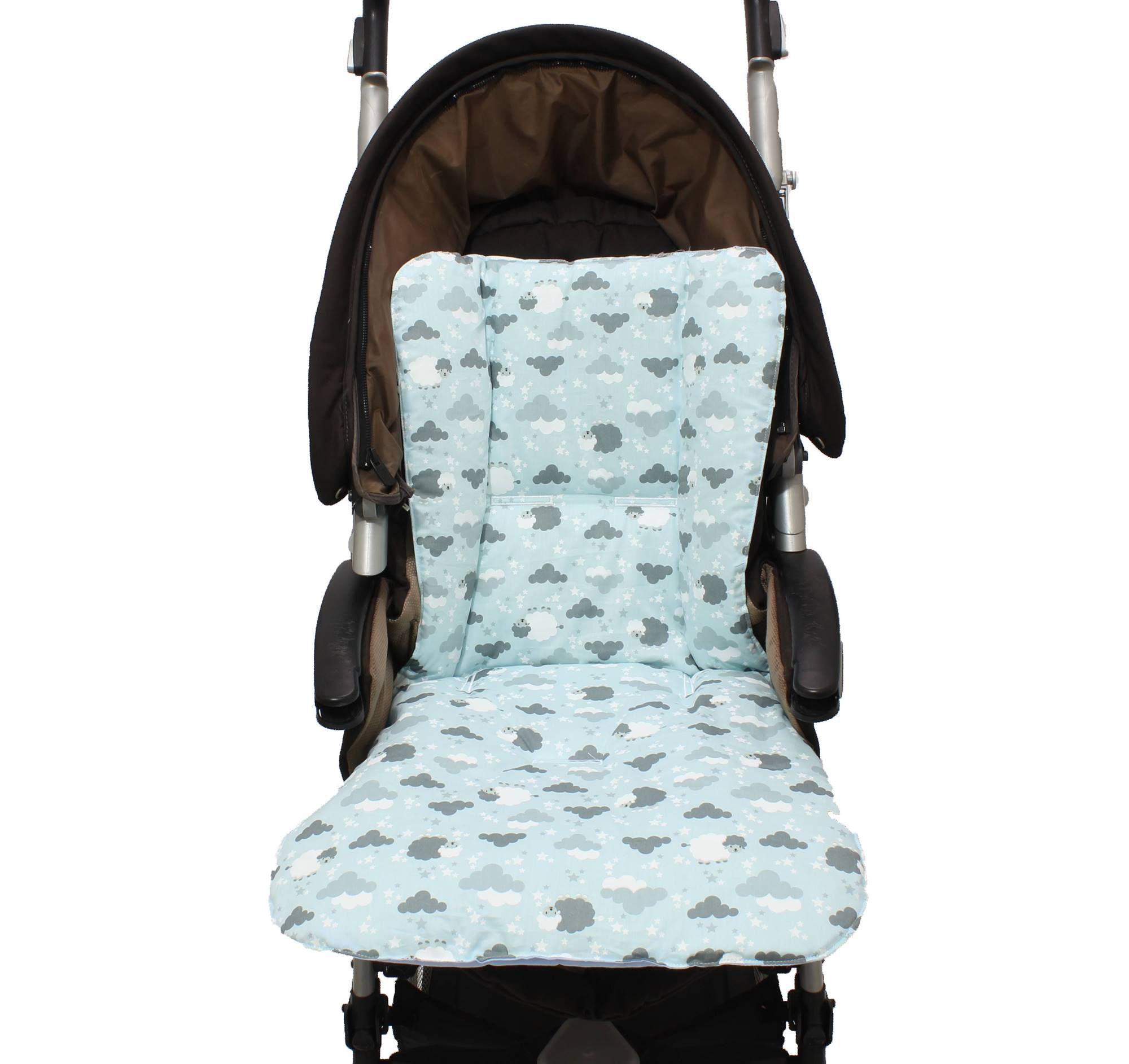 Capa de Carrinho Dupla Ovelha Azul  - Toca do Bebê