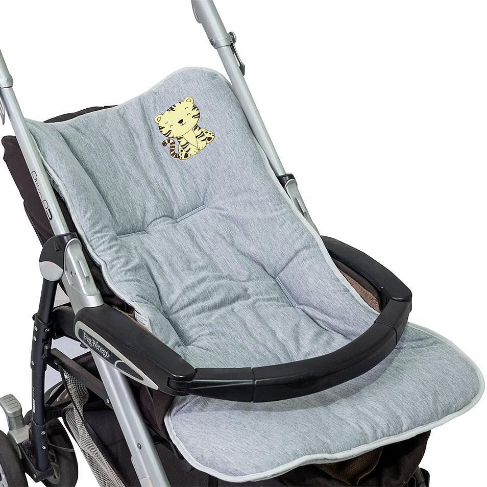 Capa de Carrinho Malha - Tigre  - Toca do Bebê