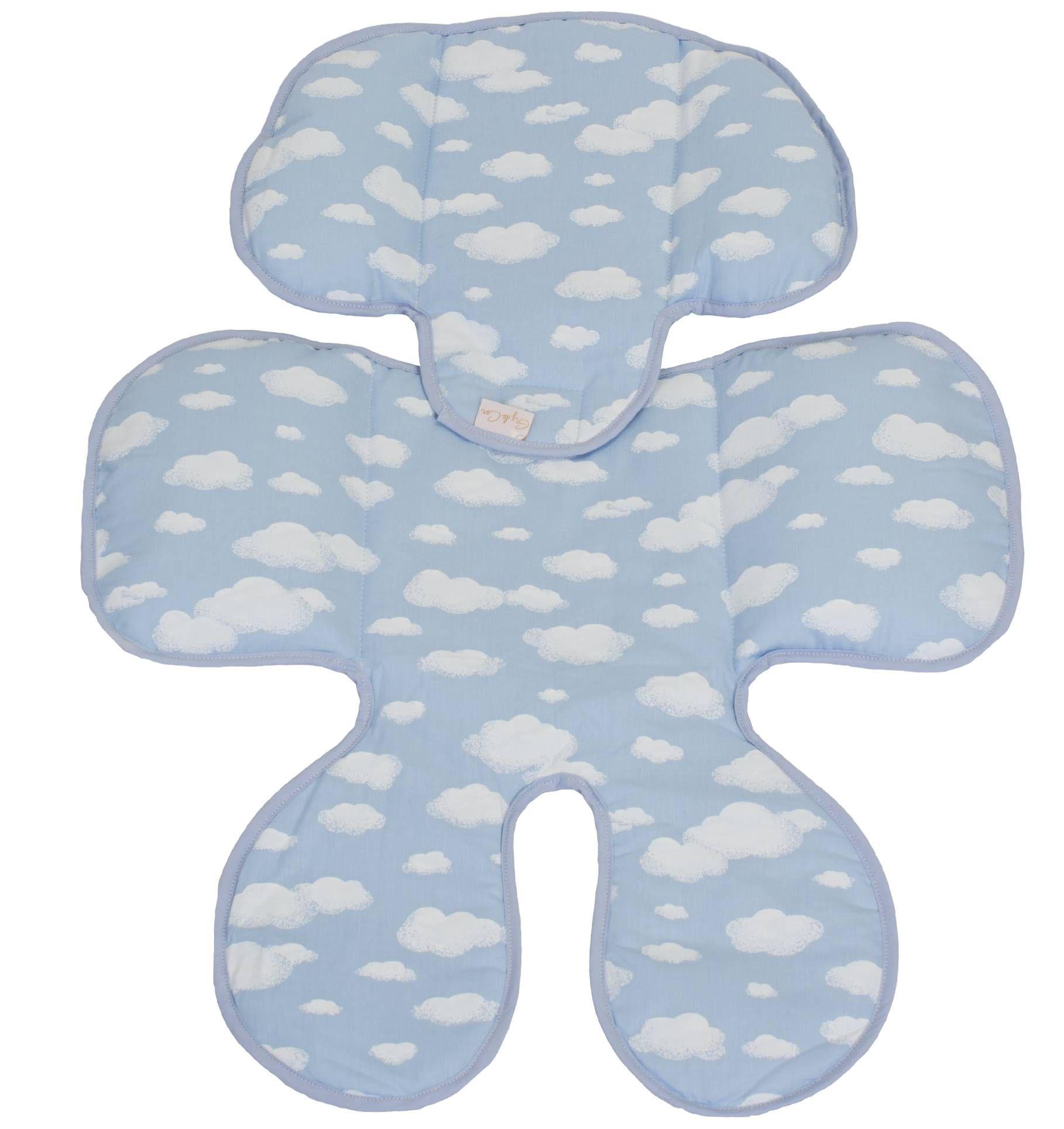 Redutor de Bebê Conforto e Carrinho Algodão Doce Azul