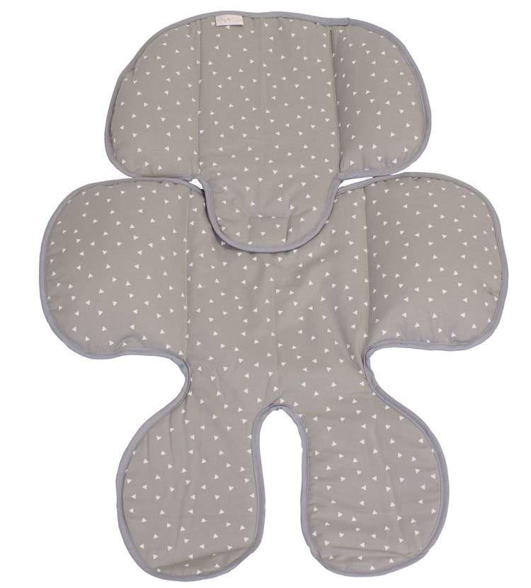 Redutor de Bebê Conforto e Carrinho Triângulo Branco com Fundo Cinza  - Toca do Bebê