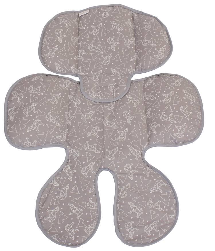 Redutor de Bebê Conforto e Carrinho Urso Dimensional Cinza