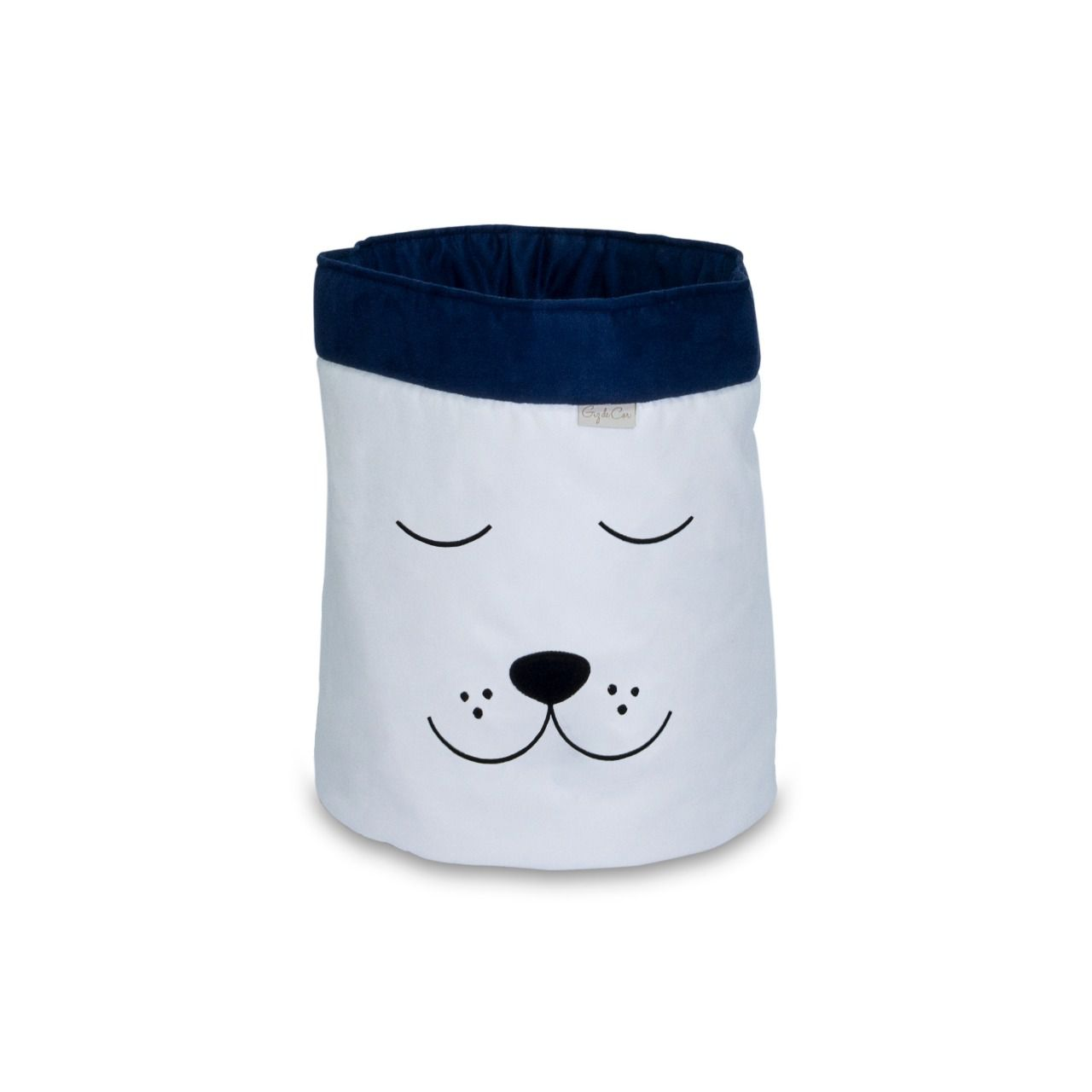 Cesto Organizador Para Brinquedos Cachorro Cru com Marinho