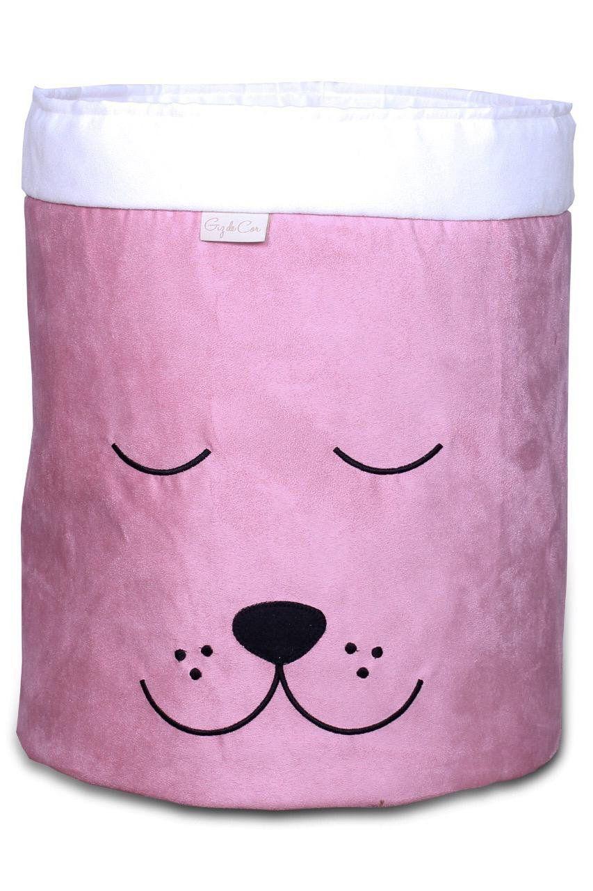 Cesto Organizador Para Brinquedos Cachorro Rosê com Cru