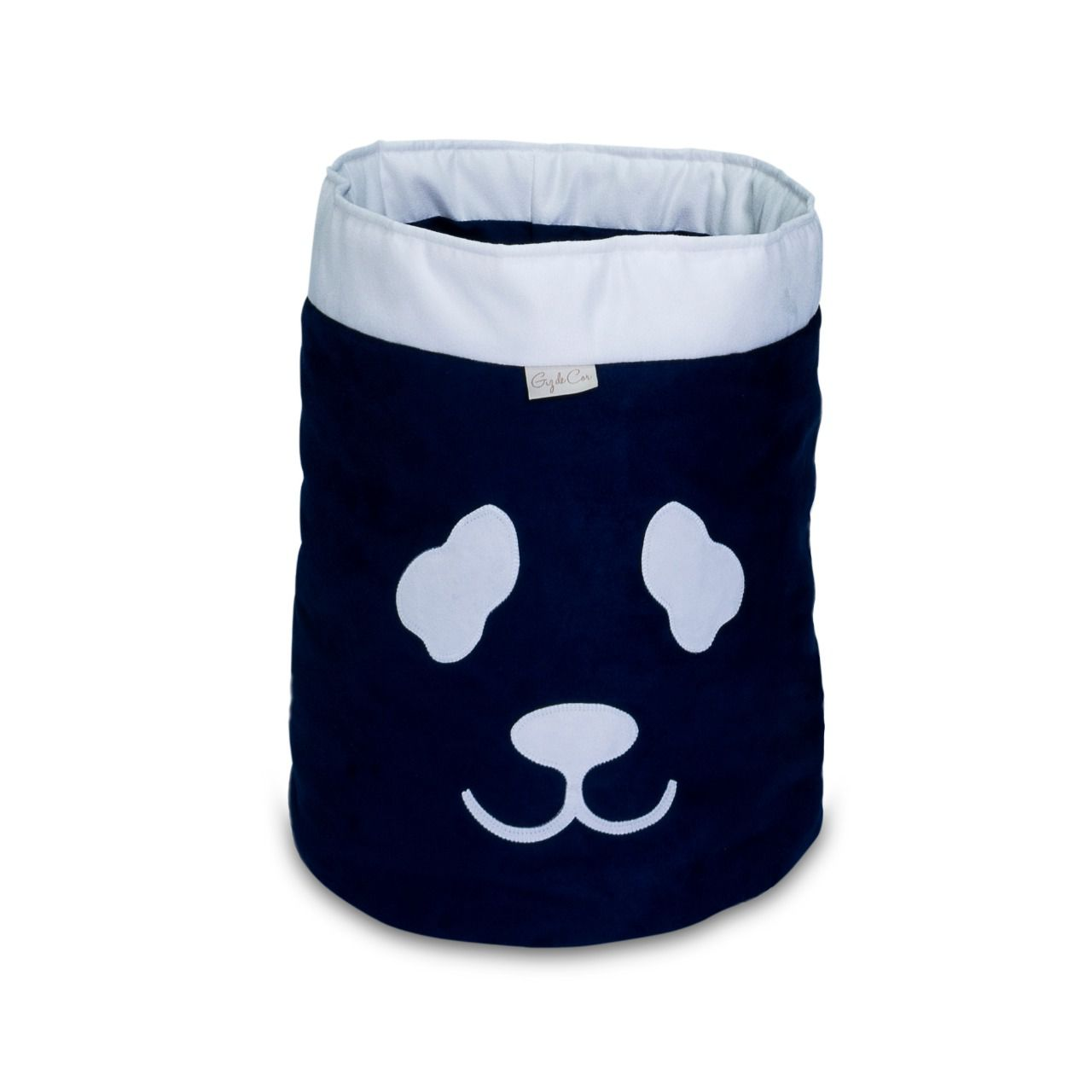 Cesto Organizador Para Brinquedos Panda Marinho com Cru