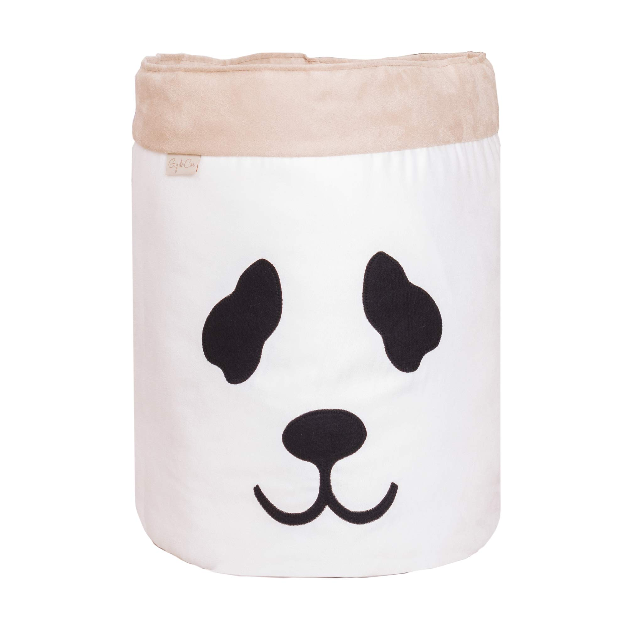 Cesto Organizador Para Brinquedos Panda Cru com Cáqui