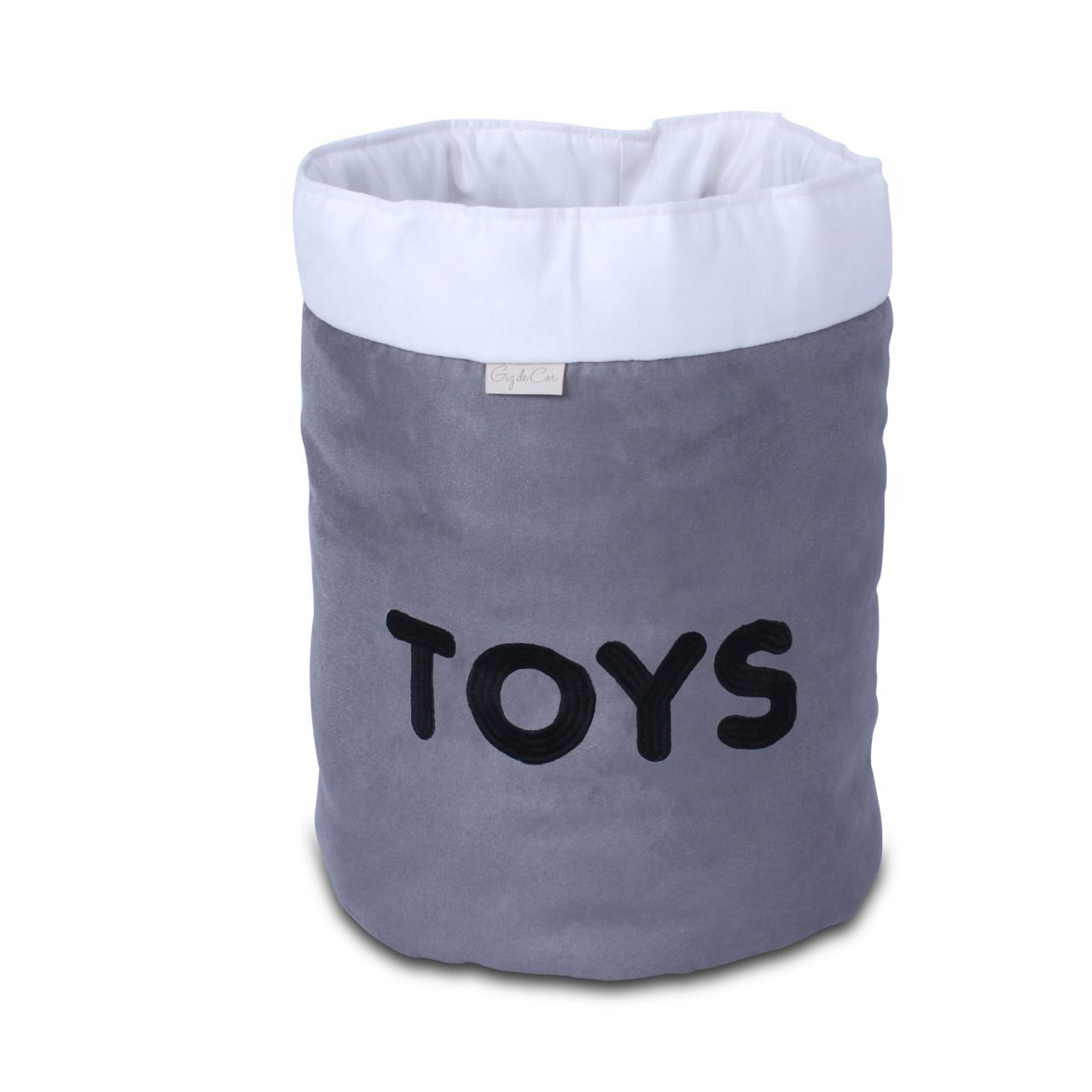 Cesto Organizador Para Brinquedos TOYS Cinza com Cru
