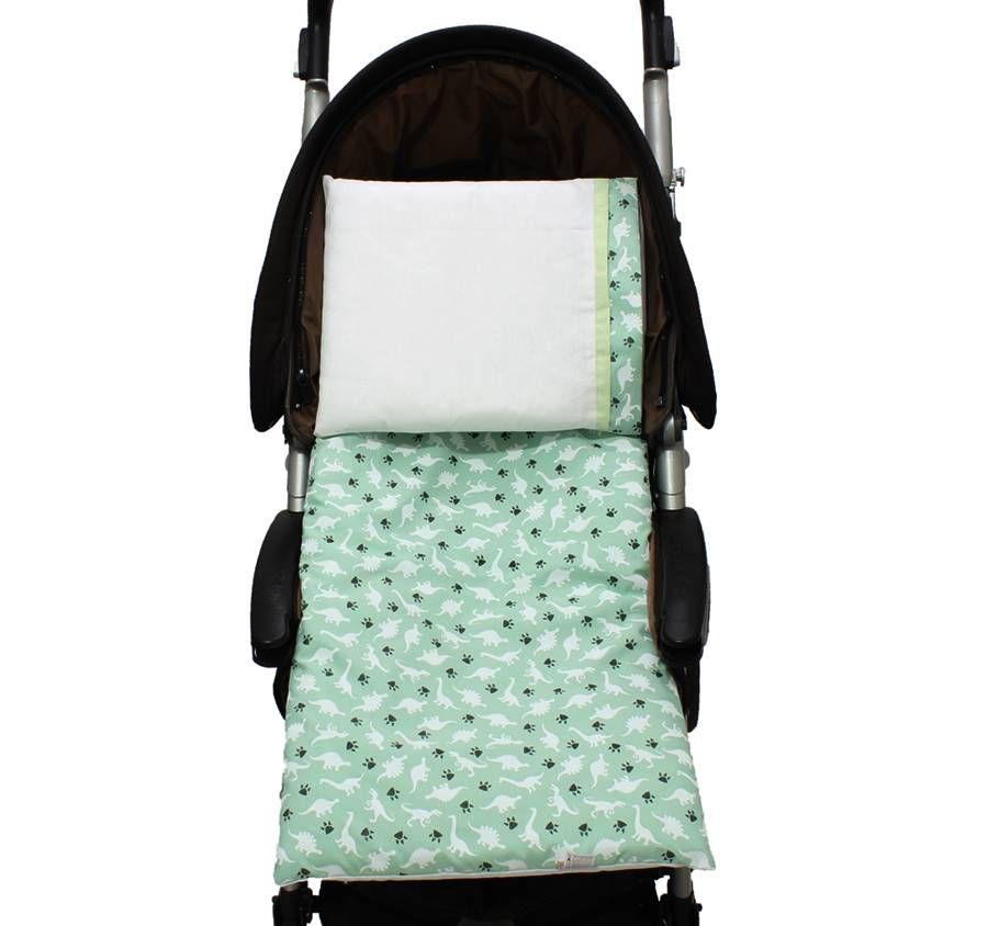 Colchonete Para Carrinho Dino Verde 02 Peças   - Toca do Bebê