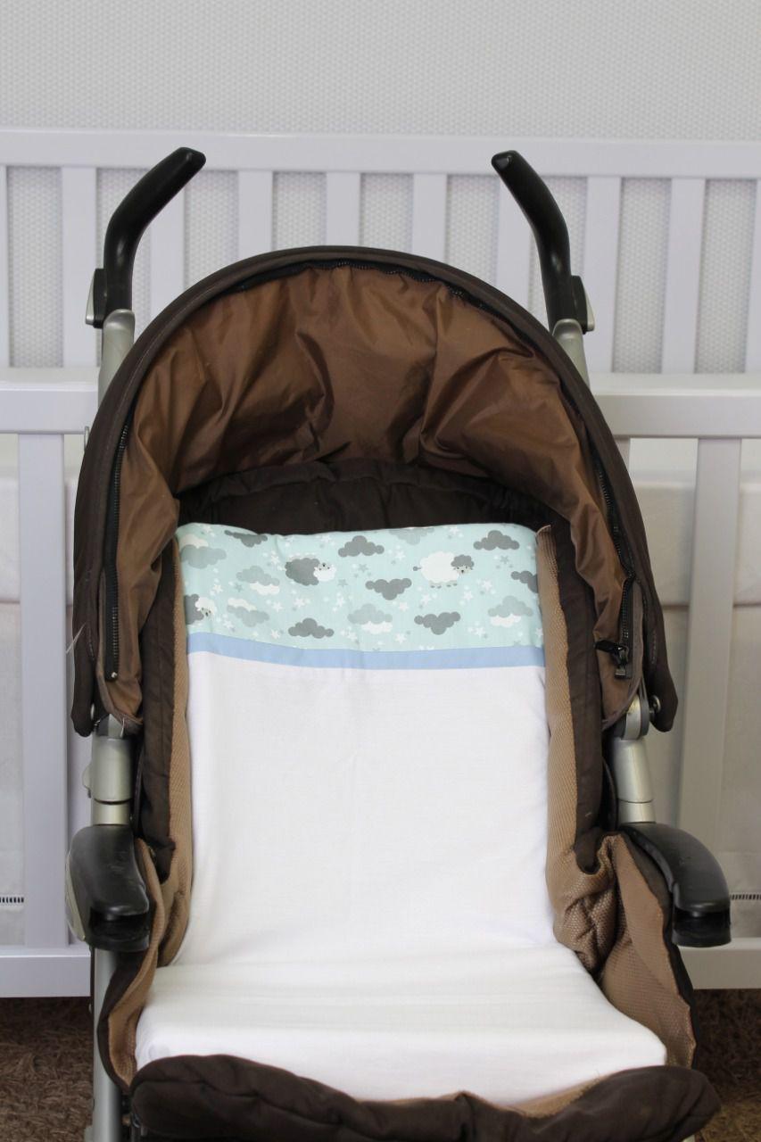 Colchonete Para Carrinho Ovelha Azul  - Toca do Bebê