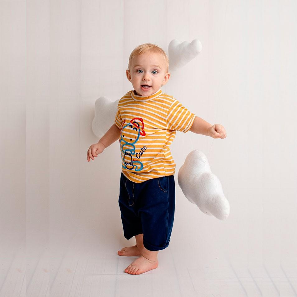 Conjunto 02 Peças Dino Skatista  - Toca do Bebê