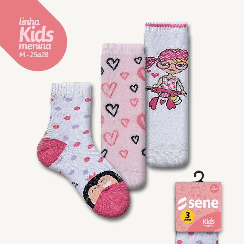 Conjunto de Meias Kids Feminina M