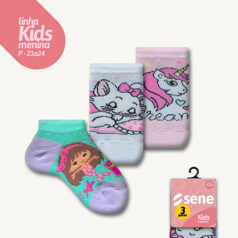 Conjunto de Meias Kids Feminina Sapatilhas P