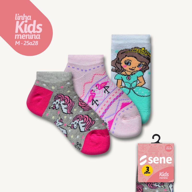 Conjunto de Meias Kids Feminina Sapatilhas M