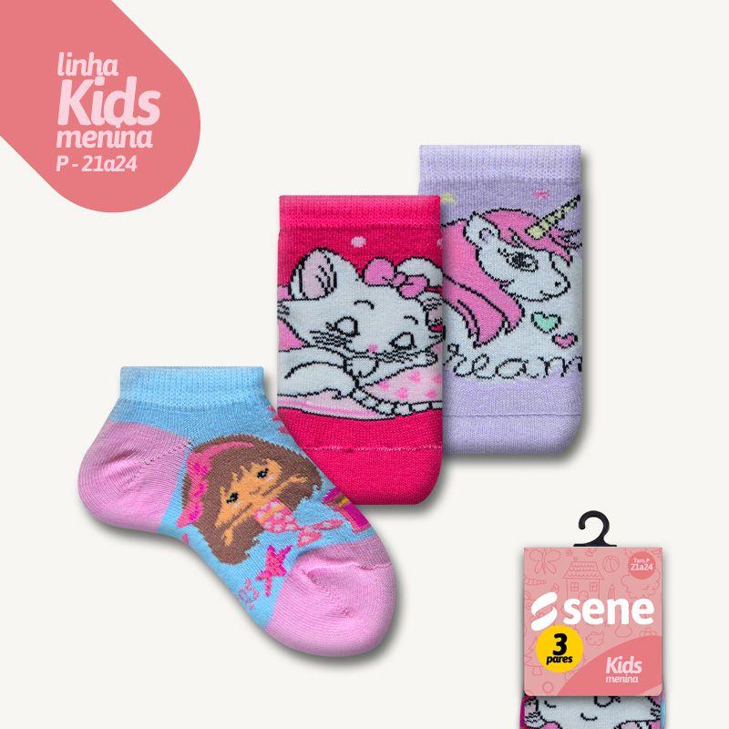 Conjunto de Meias Kids Feminino Sapatilhas P