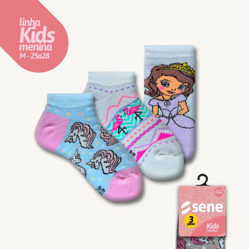 Conjunto de Meias Kids Sapatilhas Feminino M
