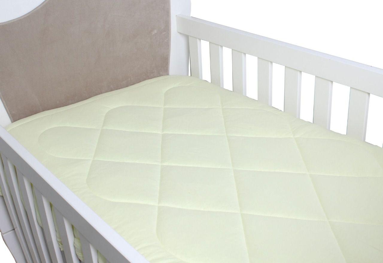 Edredom para Berço Padrão Americano Malha Amarelo Bebê  - Toca do Bebê