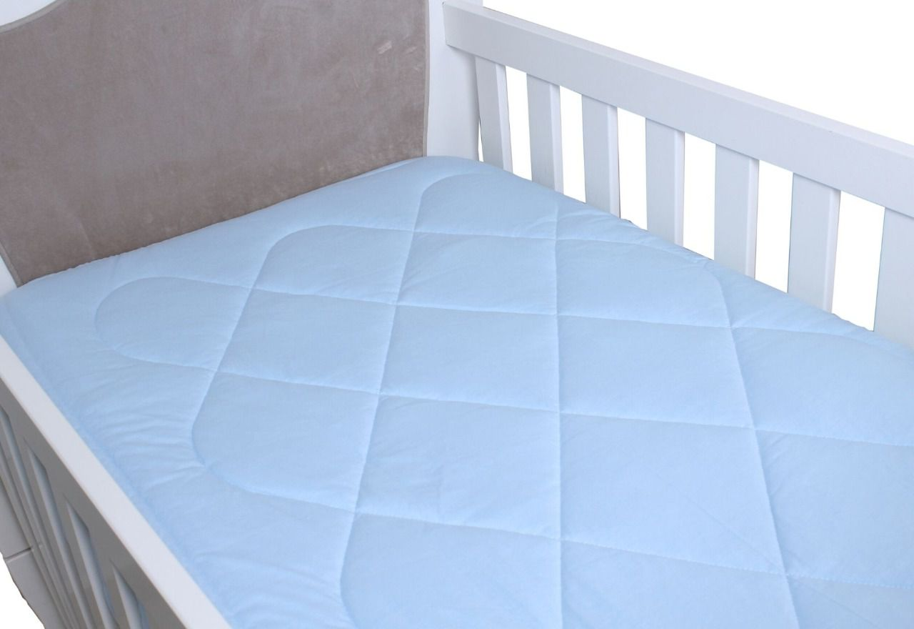 Edredom para Berço Padrão Americano Malha Azul Bebê  - Toca do Bebê