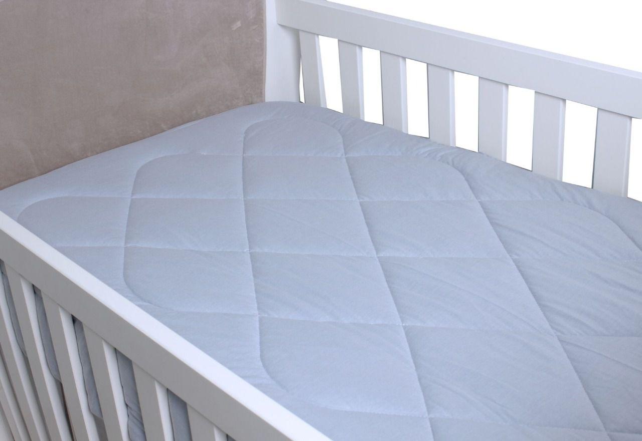 Edredom para Berço Padrão Americano Malha Cinza Prata  - Toca do Bebê