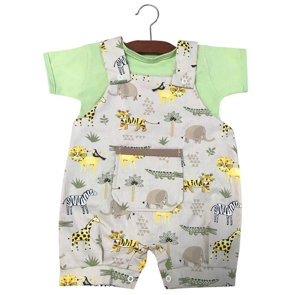 Jardineira 02 Peças Safári   - Toca do Bebê