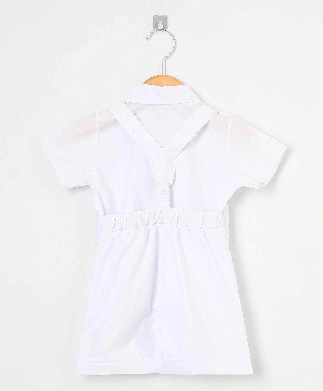 Jardineira 02 Peças Branca   - Toca do Bebê