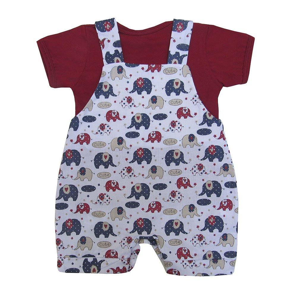Jardineira Elefantinho 02 Peças  - Toca do Bebê