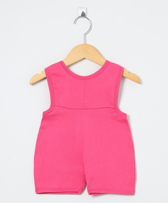 Jardineira Ursinha Pink   - Toca do Bebê
