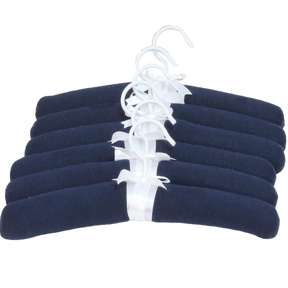 Jogo De Cabides Em Malha Azul Marinho