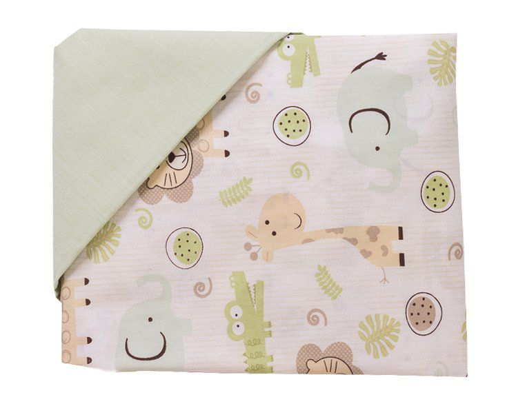 Jogo de Lençol 02 Peças para Berço Selva  - Toca do Bebê