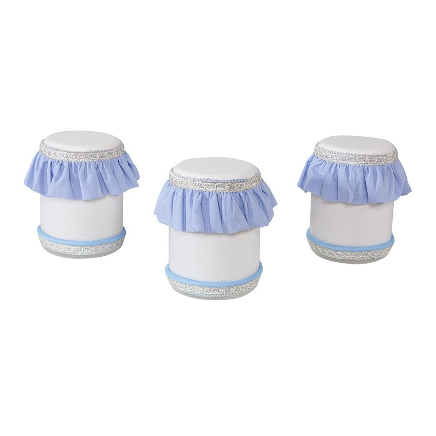 Jogo de Potes Plástico Kit Realeza Azul